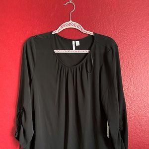 NWT. Black sheer blouse